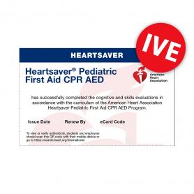 2020 AHA International Heartsaver® Pediatric First Aid CPR AED eCard