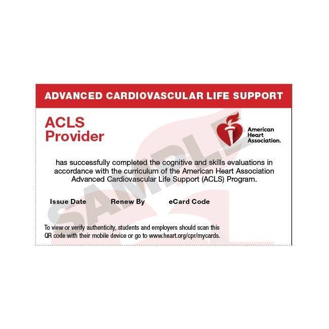 aha provider acls ecard bls