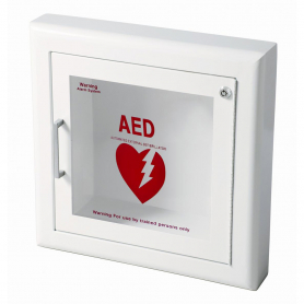 JL Industries Semi-Recessed Ambassador Series AED Cabinet with Siren