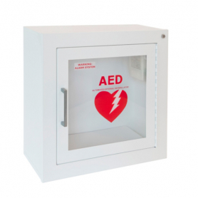 JL Industries Surface Mounted AED Wall Cabinet with Oxygen Tank Holder