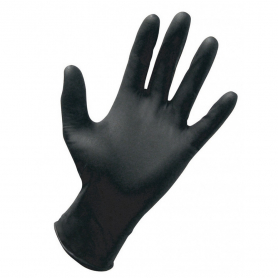 Dynarex® Nitrile Exam Gloves Powder Free - Black - Medium