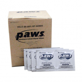 p.a.w.s.® Individual Antimicrobial Wipes, 100 ct