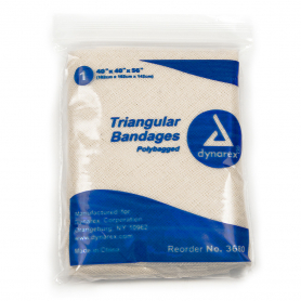 Dynarex® Triangular Bandage, 40 in x 40 in x 56 in