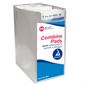 Dynarex® Sterile Combine Pads, 5 in x 9 in  - Case of 400