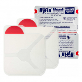 HyFin® Vent Compact Chest Seal, Twin Pack