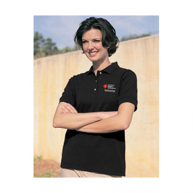 AHA Women's Polo Shirt - Black - Large