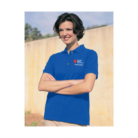 AHA Women's Polo Shirt - Blue - Small