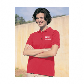 AHA Women's Polo Shirt - Red - Large