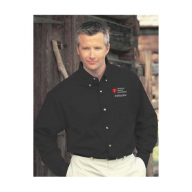 AHA Men's Long Sleeve Dress Shirt - Black - 2XL