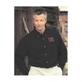 AHA Men's Long Sleeve Dress Shirt - Black - Small