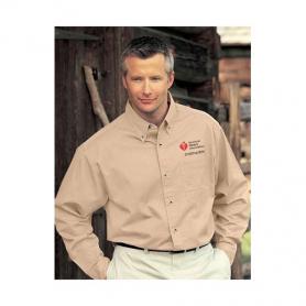 AHA Men's Long Sleeve Dress Shirt - Khaki - Medium