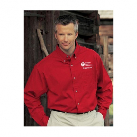 AHA Men's Long Sleeve Dress Shirt - Red - 2XL