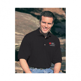 AHA Men's Polo Shirt - Black - 2XL