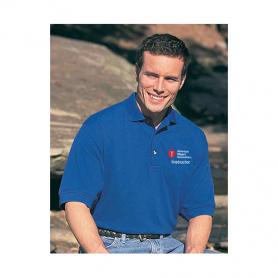 AHA Men's Polo Shirt - Blue - Medium