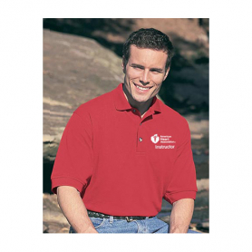 AHA Men's Polo Shirt - Red - XL