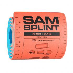SAM Medical® Aluminum/Foam Emergency Limb Splint, Roll - Orange/Blue