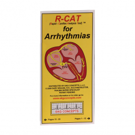 EKG Concepts R-CAT (Rapid-Cardiac Analysis Tool) for Arrhythmias Pocket Resource