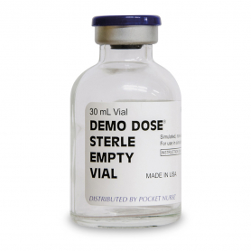 Pocket Nurse® Demo Dose® 30 mL Empty Vials - 25 Pack