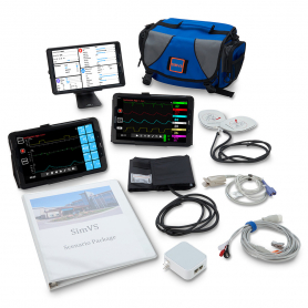 Simulaids SimVS Simulation Platform Hospital Monitor, Defibrillator, and Ventisim
