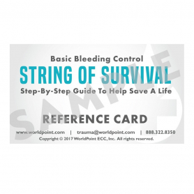 WorldPoint® Basic Bleeding Control Reference Card - 10 Pack