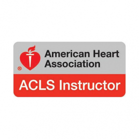 AHA ACLS Instructor Lapel Pin