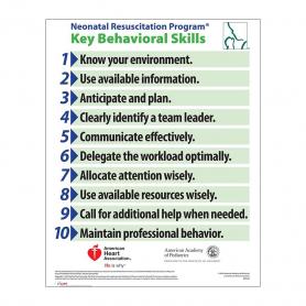 AAP NRP® 2016 Behavorial Skills Poster