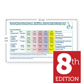 AAP NRP® Neonatal Code Medications Card, 8th Edition