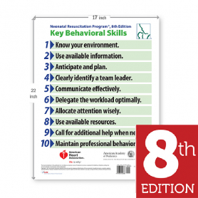 AAP NRP® Behavorial Skills Poster, 8th Edition