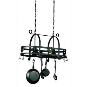 Wrought Iron AC1798EB Black Pot Rack