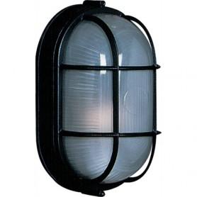 LARGE OVAL BLACK MARINE LIGHT