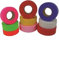 FLAGGING TAPE, FLUORESCENT LIME
