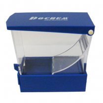 Cotton Roll Dispenser Blue Plastic with Drawer