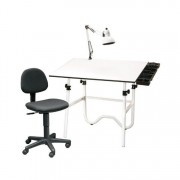 Studio Goods Creative Center Onyx w/Office Chair