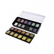 Finetec Artist Pearlescent Watercolor Paint Set 24 Color Set