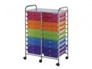 Blue Hills Studio Storage Cart 20-Drawer Multicolor