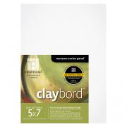 Ampersand Flat Claybord Artist Panel 5 x 7 Pack of 3