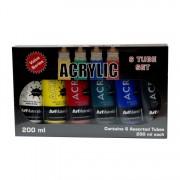 Art Materials Acrylic Paint 200ml Tube Set