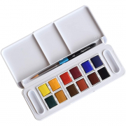 Aquafine Watercolor Half Pan Travel Set
