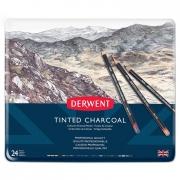 Derwent Tinted Charcoal Set of 24 Tin