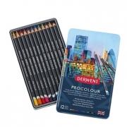 Derwent Procolour Pencil Colored Pencils Tin of 12