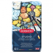 Derwent Studio Colored Pencil Tin of 12