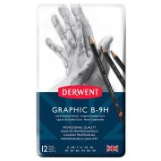 Derwent Graphic Pencil Technical Set of 12 Hard B-9H