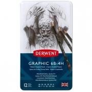 Derwent Graphic Pencil Design Set of 12 Medium 6B-4H