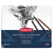 Derwent Sketching Collection 24 Piece Metal Tin