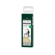 Ecco Pigment Fineliner 4ct Wallet Set Black 0.1,0.3,0.5,0.7