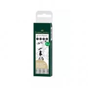 Ecco Pigment Fineliner 4ct Wallet Set Black 0.2,0.4,0.6,0.8