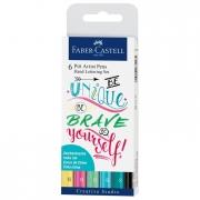 Pitt Artist Pen Handlettering I 6 Ct Wallet Set