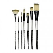 Dynasty Black Silver Blended Synthetic Decorative Brush De