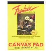 "Fredrix 9"" x 12"" White Canvas Pad"