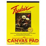 "Fredrix 12"" x 16"" White Canvas Pad"
